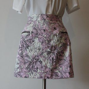 French Connection Purple Floral Skirt